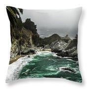 Big Sur's Emerald Oaza Throw Pillow by Eduard Moldoveanu