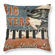 Big Waters Outfitters Throw Pillow by JQ Licensing