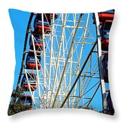 Big Wheel Throw Pillow by Kaye Menner