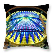 Big Wheel Keep On Turning Throw Pillow by Mark Miller