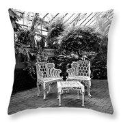BILTMORE SOLARIUM Asheville NC Throw Pillow by William Dey