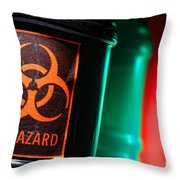 Biohazard Throw Pillow by Olivier Le Queinec