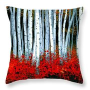 Birch 24 X 48  Throw Pillow by Michael Swanson