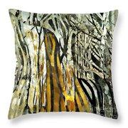 Birch Forest Throw Pillow by Sarah Loft