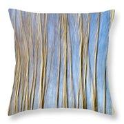 Birch Trees Throw Pillow by Stelios Kleanthous