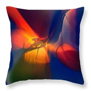 Bird On A Snowboard Throw Pillow by Omaste Witkowski