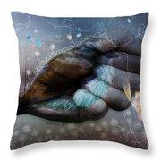 Birdie Paintress Throw Pillow by Barbara Orenya