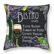 Bistro Paris Throw Pillow by Debbie DeWitt
