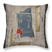 Bits and Pieces Throw Pillow by Carol Leigh