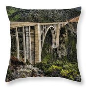 Bixby Creek Bridge Throw Pillow by Heather Applegate