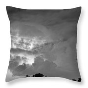 Black And White Light Show Throw Pillow by James BO  Insogna
