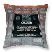 Black Cat Game Throw Pillow by Rob Hans