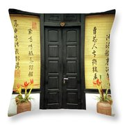 Black Doors Throw Pillow by Rick Piper Photography