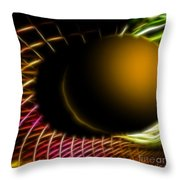 Black Hole Throw Pillow by Cheryl Young