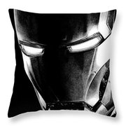 Black Led Avenger Throw Pillow by Kayleigh Semeniuk