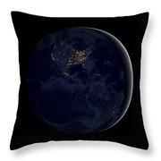 Black Marble Throw Pillow by Adam Romanowicz