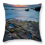 Black Rock Throw Pillow by Davorin Mance