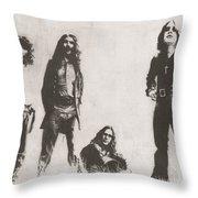 Black Sabbath Throw Pillow by Jeff Ridlen