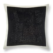 Black Square Throw Pillow by Kazimir Malevich