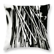 Blacksmith Iron  Throw Pillow by Chastity Hoff