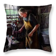 Blacksmith - Starting With A Bang  Throw Pillow by Mike Savad
