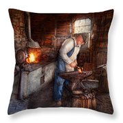 Blacksmith - The Smith Throw Pillow by Mike Savad