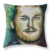 Blake Shelton  Country Singer Throw Pillow by Chrisann Ellis