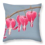 Bleeding Hearts Throw Pillow by Anastasiya Malakhova