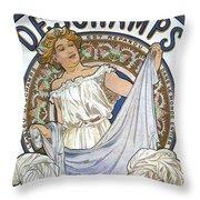 Bleu Deschamps Throw Pillow by Georgia Fowler