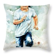 Blind Dash For First Throw Pillow by Hanne Lore Koehler