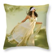 Blind Faith Throw Pillow by Linda Lees