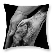 Blind Faith Throw Pillow by Linsey Williams