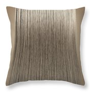Blonde Hair Perfect Straight Throw Pillow by Allan Swart