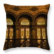 Bloomingdale's At Home In Chicago's Medinah Temple Throw Pillow by Christine Till