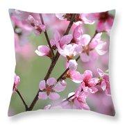 Blossoming Hillside Throw Pillow by Melanie Moraga