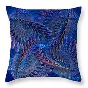 Blue 3 Throw Pillow by Deborah Benoit