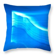 Blue Abstract 3 Throw Pillow by Mark Weaver