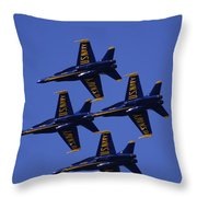 Blue Angels Throw Pillow by Bill Gallagher