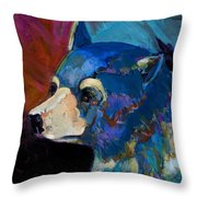 Blue Bear II Throw Pillow by Bob Coonts