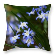 Blue For You Throw Pillow by Neal  Eslinger