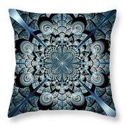 Blue Gates Throw Pillow by Anastasiya Malakhova