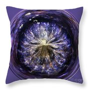 Blue Jelly Fish Orb Throw Pillow by Terri  Waters