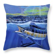 Blue Pitcher Off00115 Throw Pillow by Carey Chen