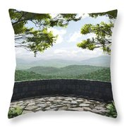 Blue Ridge Throw Pillow by Cynthia Decker