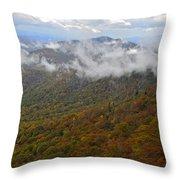 Blue Ridge Parkway Mountain View Throw Pillow by Susan Leggett
