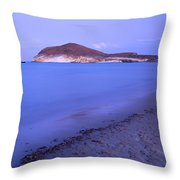 Blue Sea At Sunset Throw Pillow by Guido Montanes Castillo