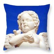 Blue <b>Sky Angel</b> Throw Pillow by Ed Weidman - blue-sky-angel-ed-weidman