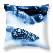 Blue Stream Throw Pillow by Les Cunliffe