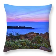 Blue Sunset Throw Pillow by Frozen in Time Fine Art Photography