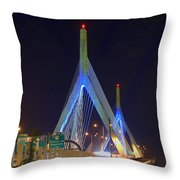 Blue Zakim Throw Pillow by Joann Vitali